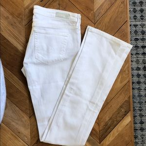 AG white the Olivia skinny boot cut